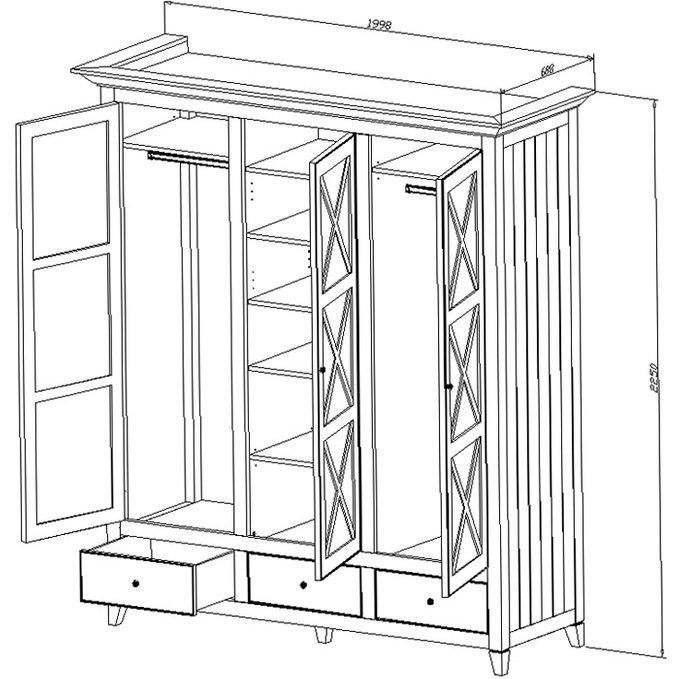 Шкаф платяной с ящиками La Mer