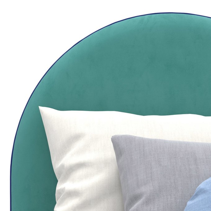 Односпальная кровать Alana на ножках бирюзового цвета 100х200