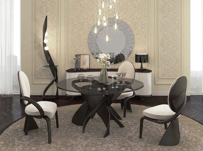 Стол обеденный Virtuos K со стеклянной столешницей
