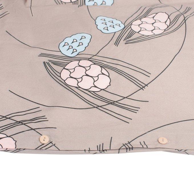 Пододеяльник двухсторонний пудрового цвета с принтом Хвойное утро 200х200