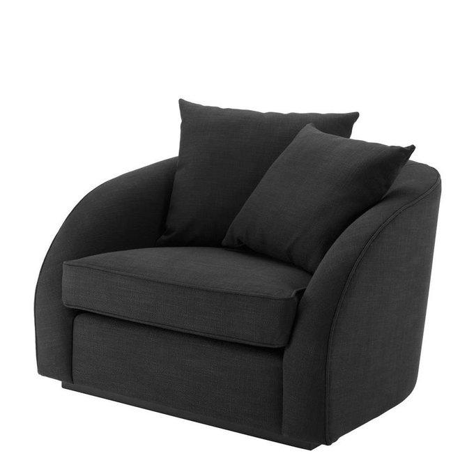 Кресло Les Palmiers черного цвета