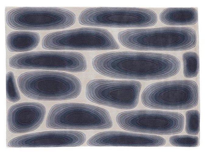 Ковер Cell бежево-голубого цвета 170x240