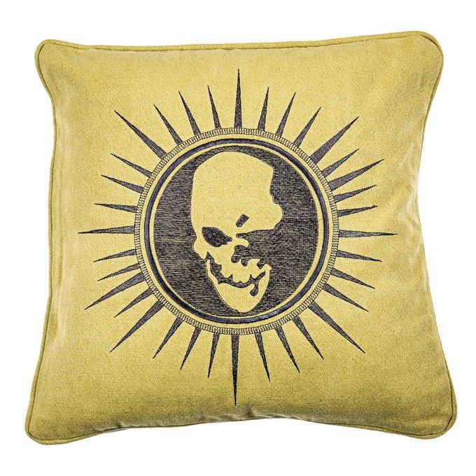 Декоративная подушка Sferol с изображением черепа