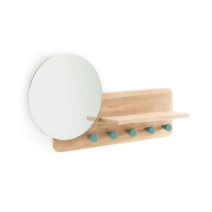 Вешалка из дуба Nyjo с зеркалом