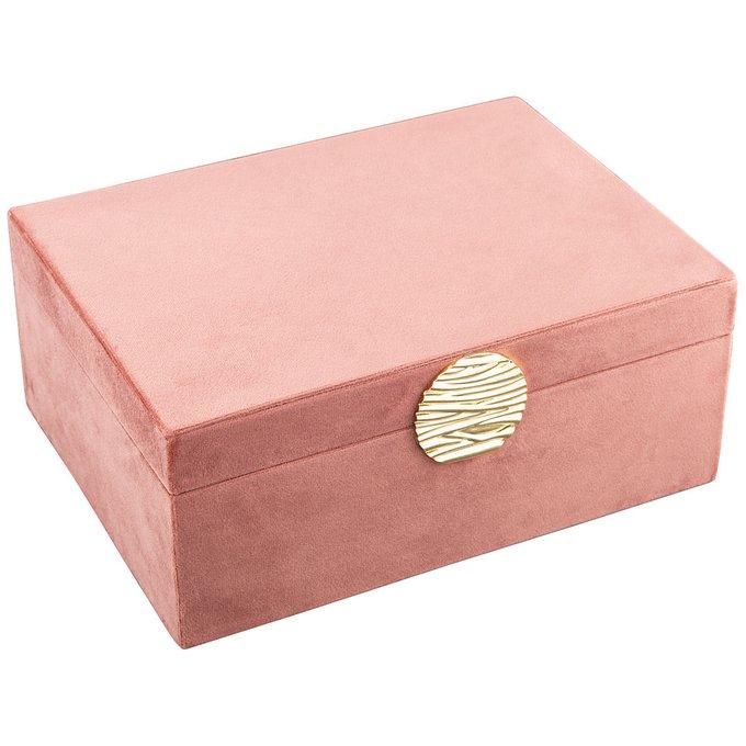 Шкатулка Велюр пудрово-розового цвета