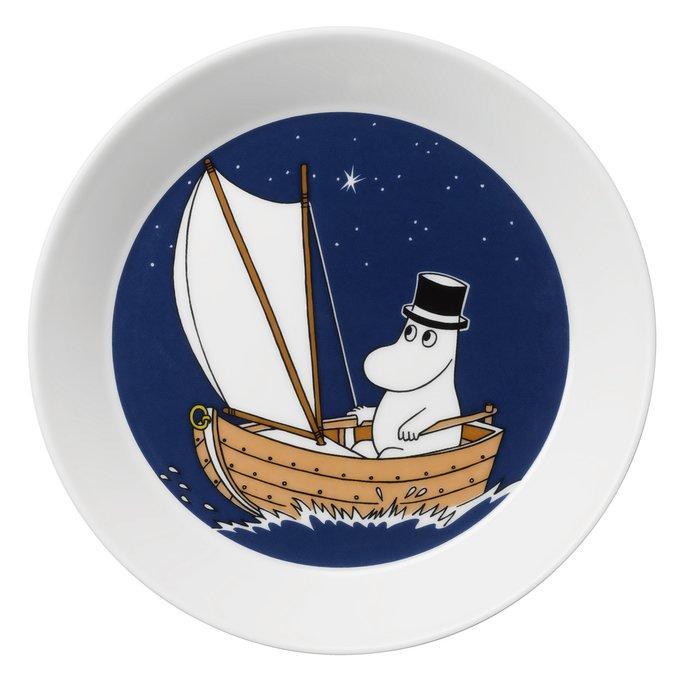 Тарелка Муми-папа синего цвета