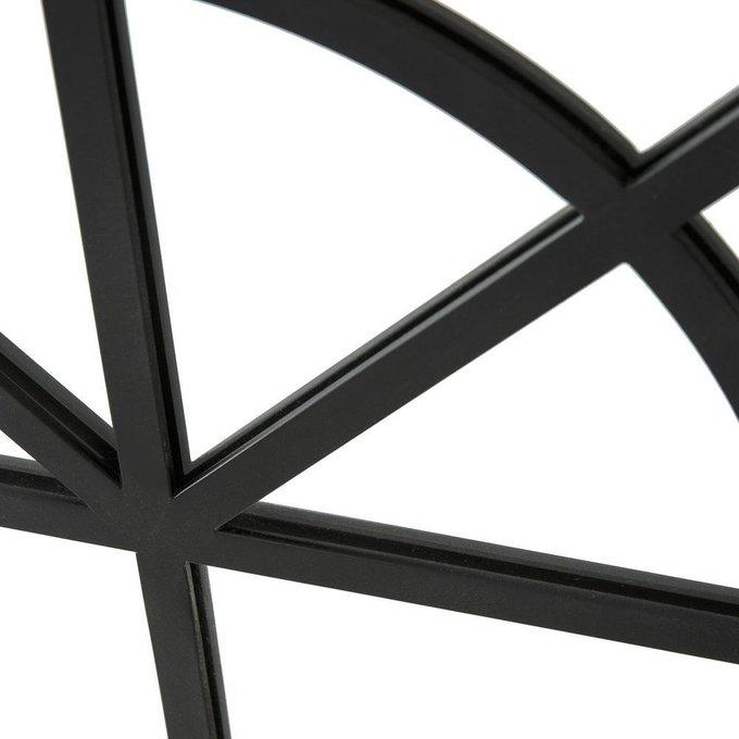 Настенное зеркало Lenaig в раме черного цвета
