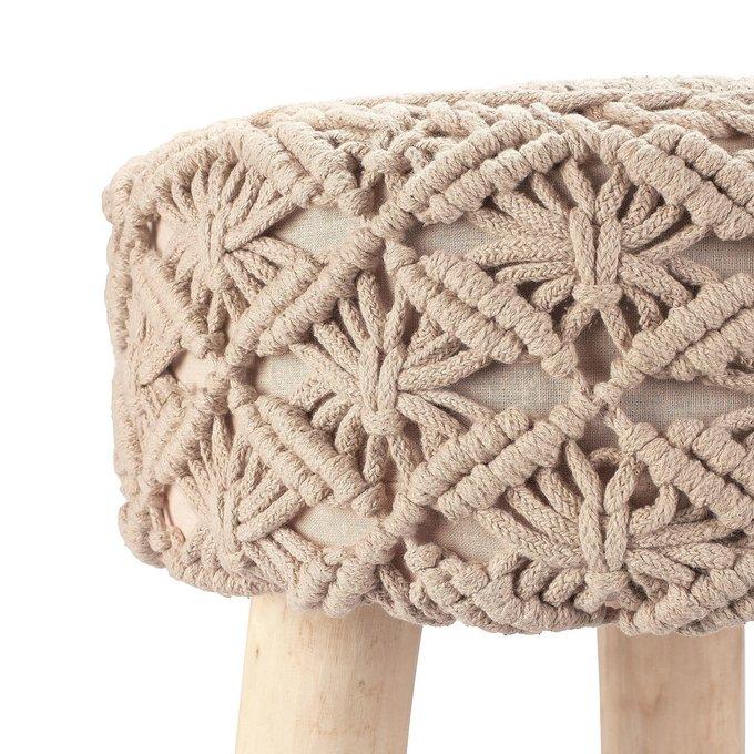 Пуф плетеный хлопок