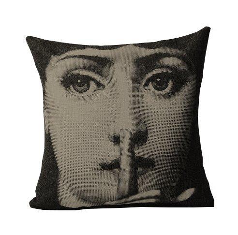 Подушка с портретом Лины Пьеро Форназетти Silence