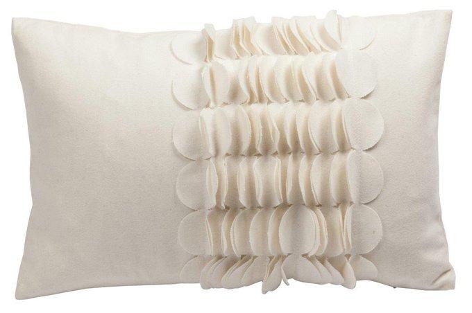 Подушка с объемным узором Giselle White