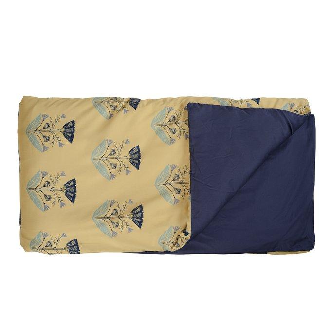 Двусторонний комплект постельного белья из сатина с принтом летний цветок 200х210
