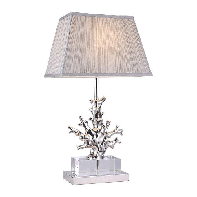 Лампа настольная с тканевым абажуром