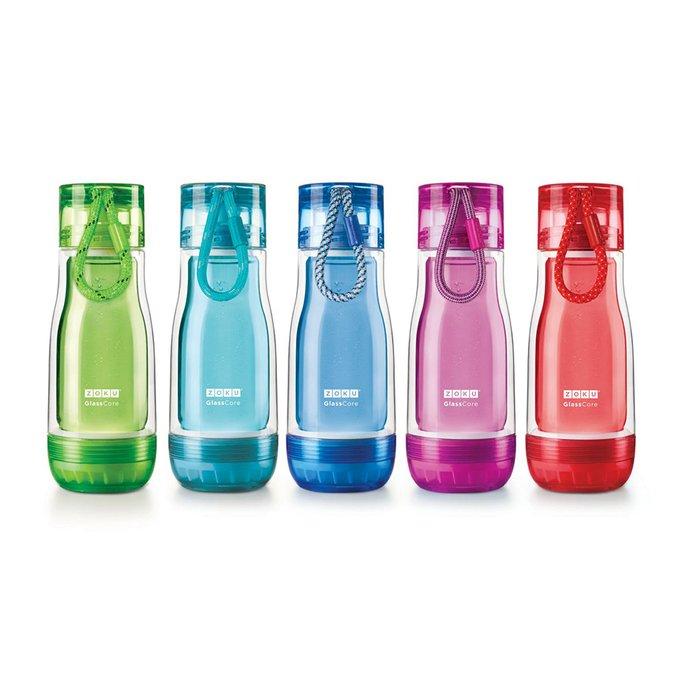 Бутылка zoku 325 мл фиолетовая