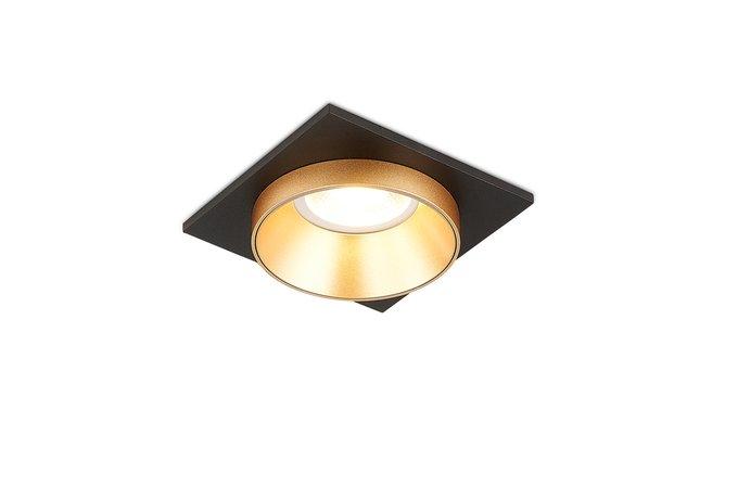 Встроенный светильник Avrila золотого цвета с черным