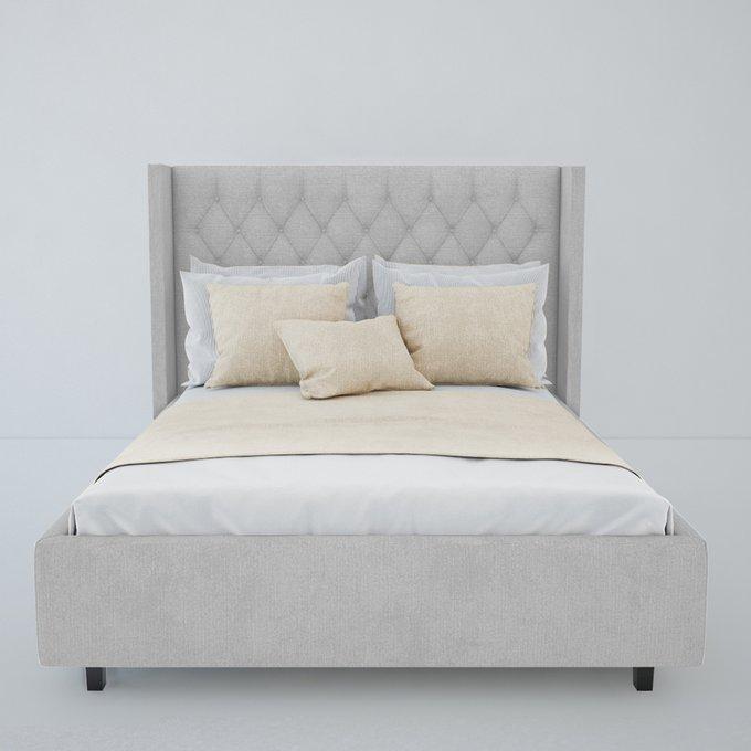 Кровать Wing-2 Велюр Молочный 200x200