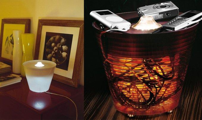 """Настольная/напольная лампа-контейнер """"Multipot red glam"""" Rotaliana с корпусом из литого поликарбоната"""