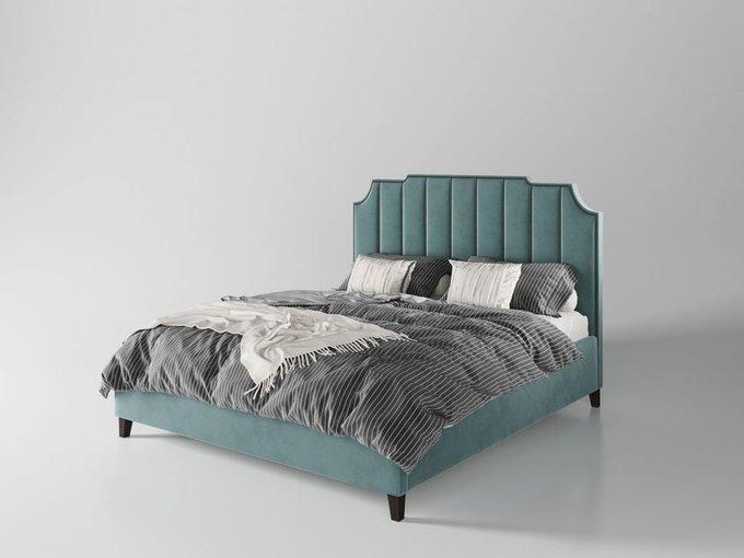 Кровать Даллас 160х200 тёмно-бирюзового цвета  с подъемным механизмом