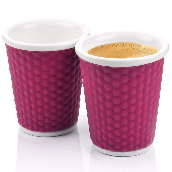 Набор чашек Honeycomb фиолетовый