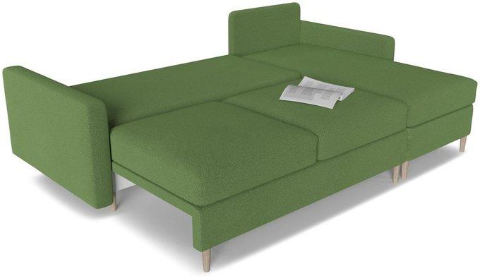 Диван угловой Белфаст 2 зеленого цвета