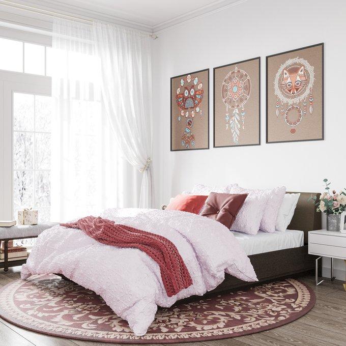 Кровать Элеонора 140х200 с изголовьем серо-бежевого цвета и подъемным механизмом