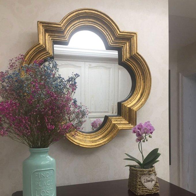 Настенное зеркало Риккардо Голд в раме золотого цвета