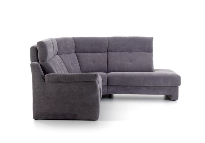 Угловой диван-кровать Ares серо-синего цвета