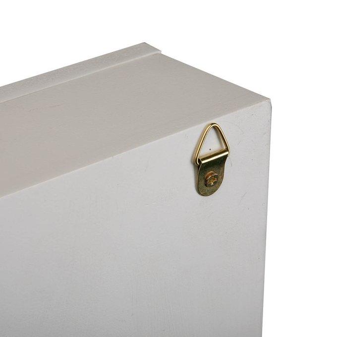 КлючницаDoor с рисунком ключа белого цвета