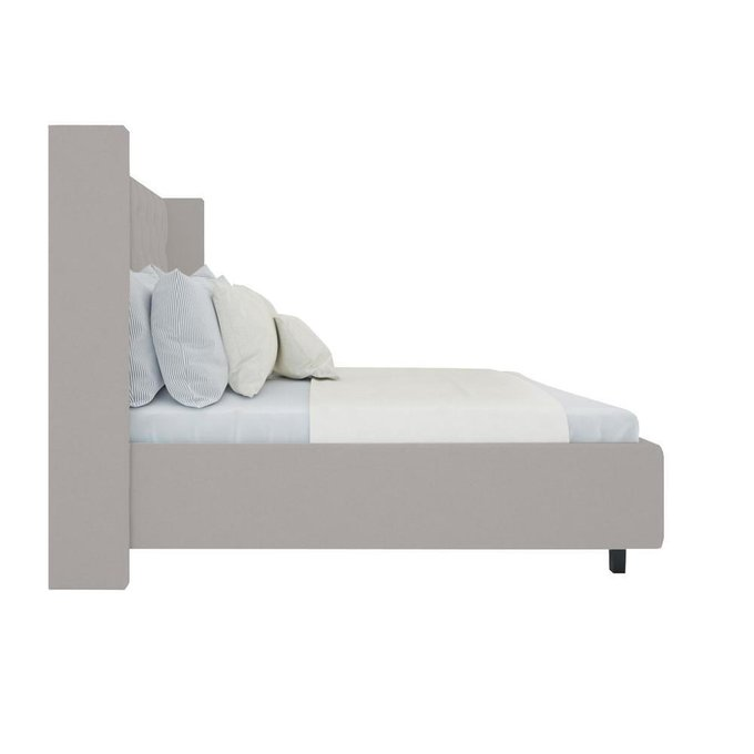 Кровать Wing-2 Велюр Бежевый 200x200