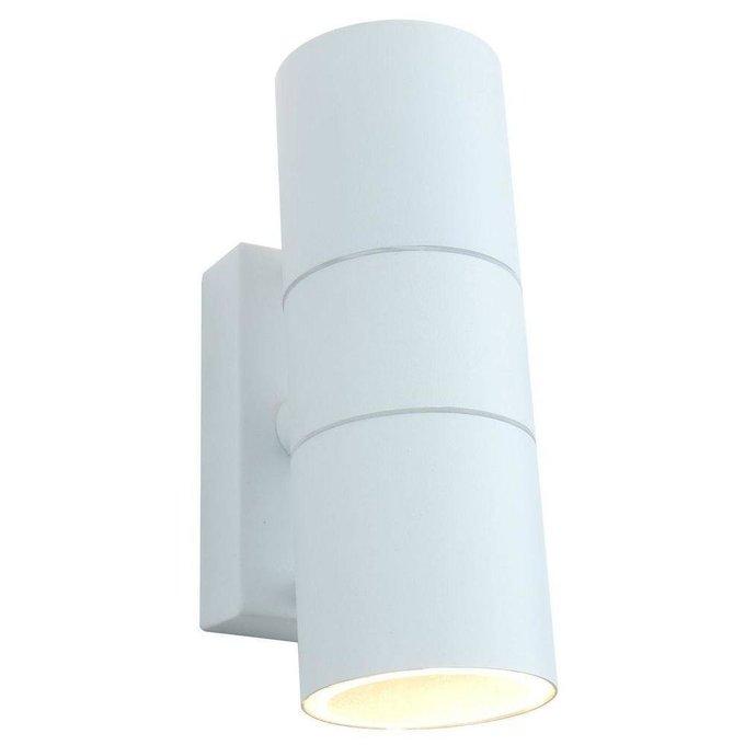 Уличный настенный светильник Sonaglio белого цвета