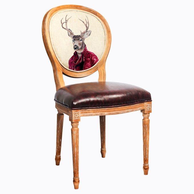 Стул Мистер Благородный Олень с сиденьем и спинкой из экокожи