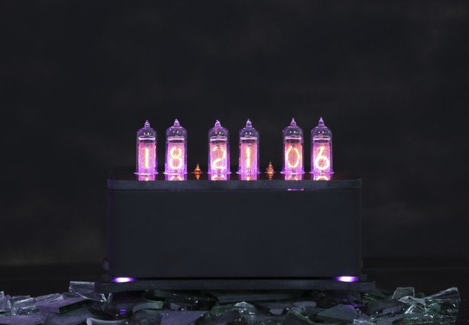 Ламповые часы VacuumGlow LEVITATION Deep Black