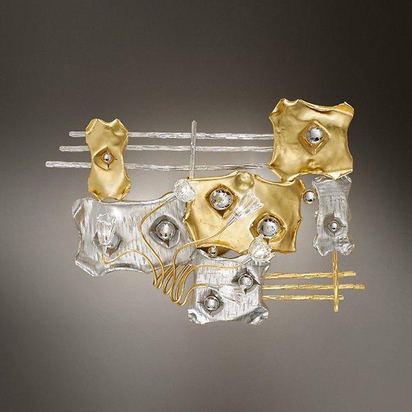 Настенный светильник MM Lampadari с декоративными элементами Swarovski и плафонами из муранского стекла