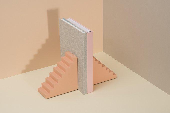 Ограничитель для книг Doiy scala бетонный