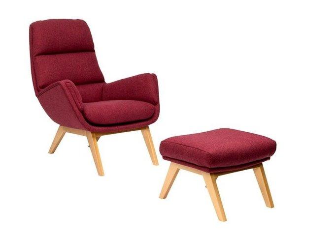 Кресло Orhus бордового цвета