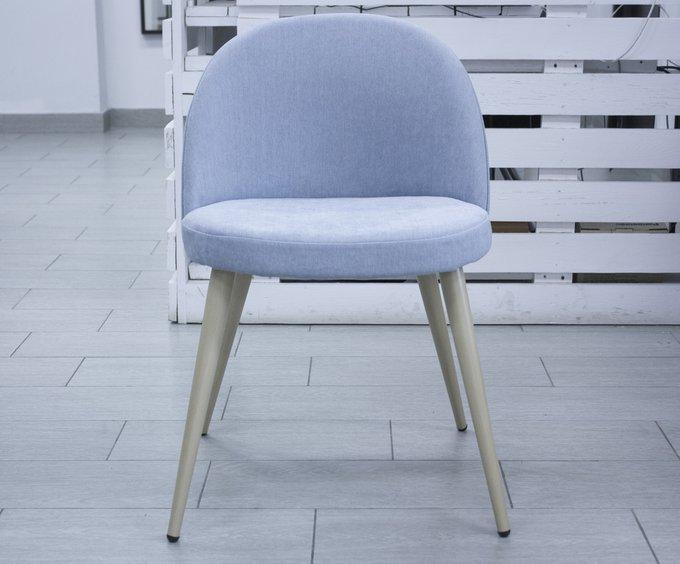 Набор из четырех голубых стульев Томас с мягким сидением