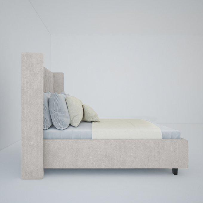 Кровать Wing-2 Лён Молочный 160х200