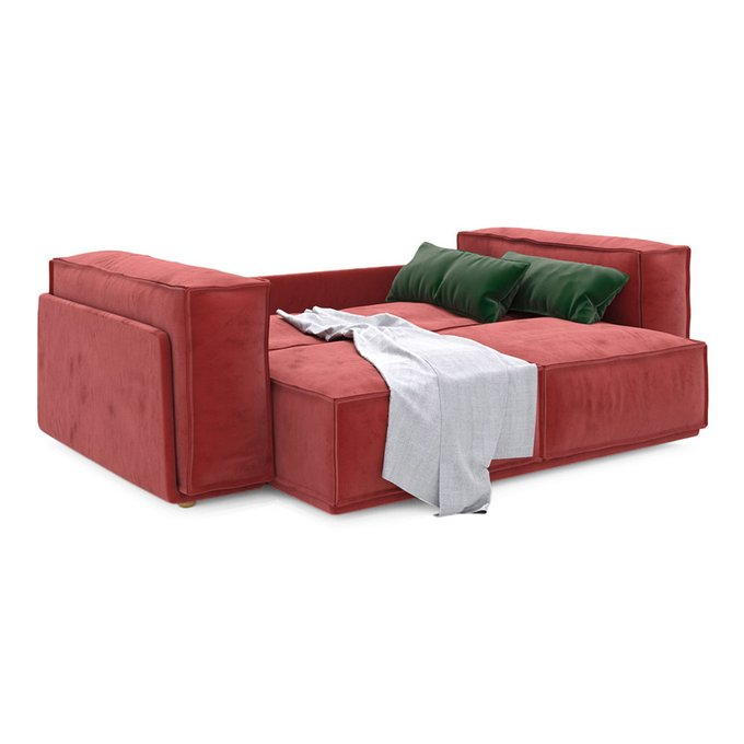Диван-кровать Vento Classic двухместный красного цвета