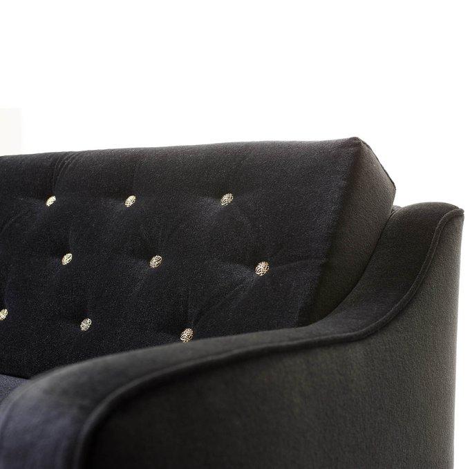 Диван двухместный Kory чёрного цвета