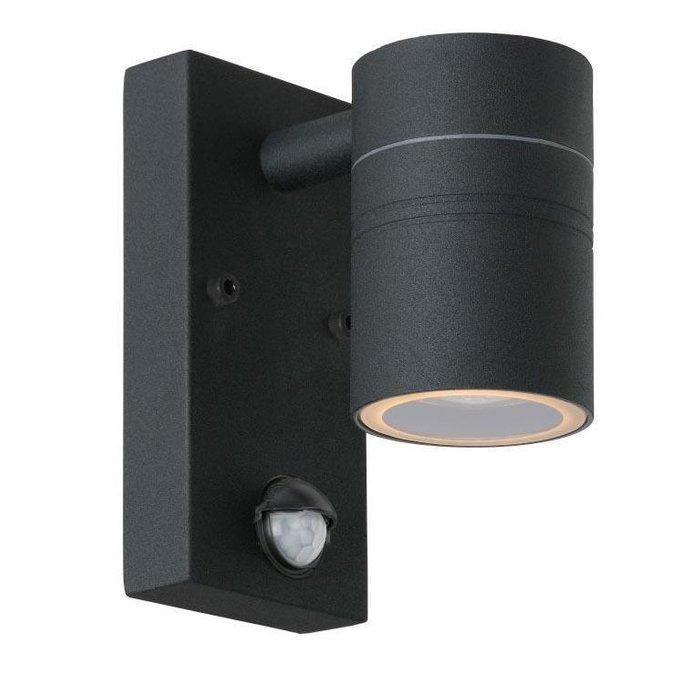 Уличный настенный светодиодный светильник Lucide Arne-Led черного цвета