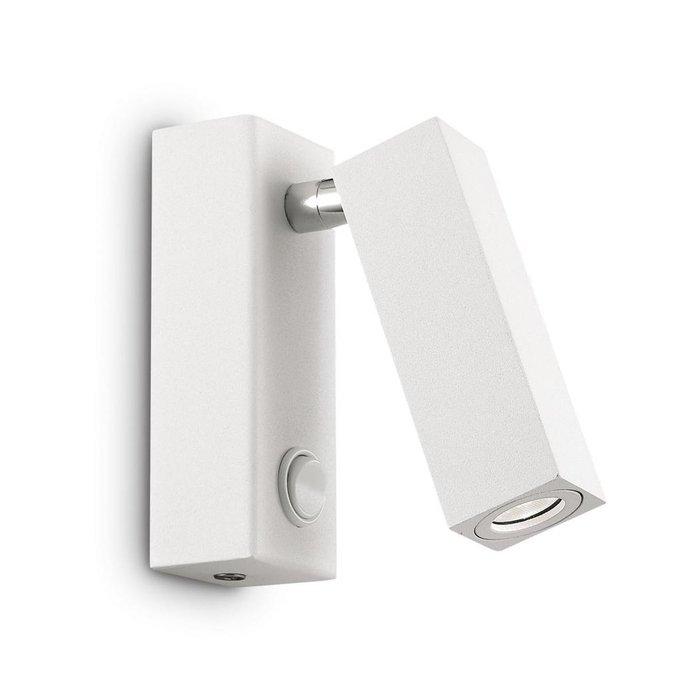 Светодиодный спот светильник Ideal Lux Page AP1 Square Bianco