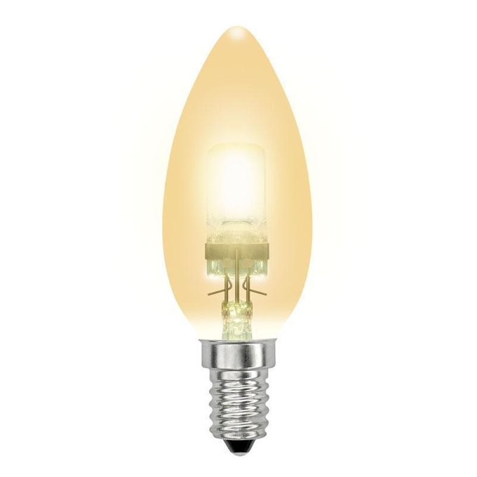 Лампа галогенная Свеча золотая candle gold