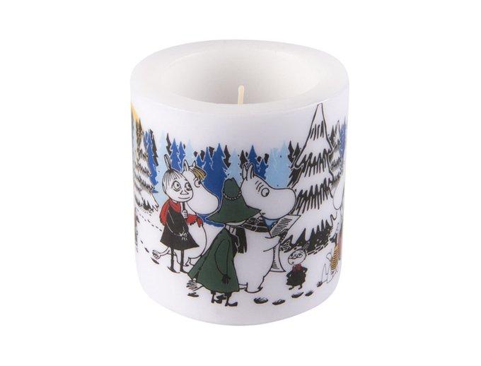 Свеча Moomin Зимний лес из парафина