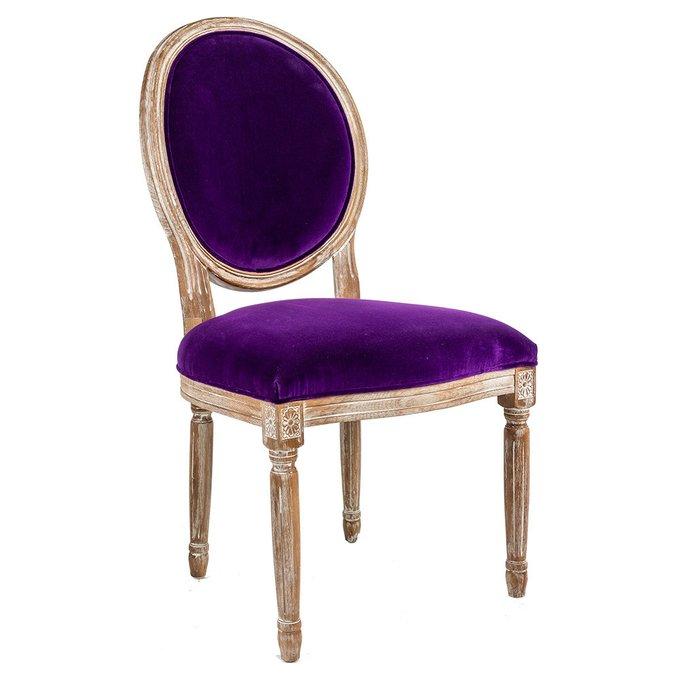 Стул Луи с обивкой темно-фиолетового цвета