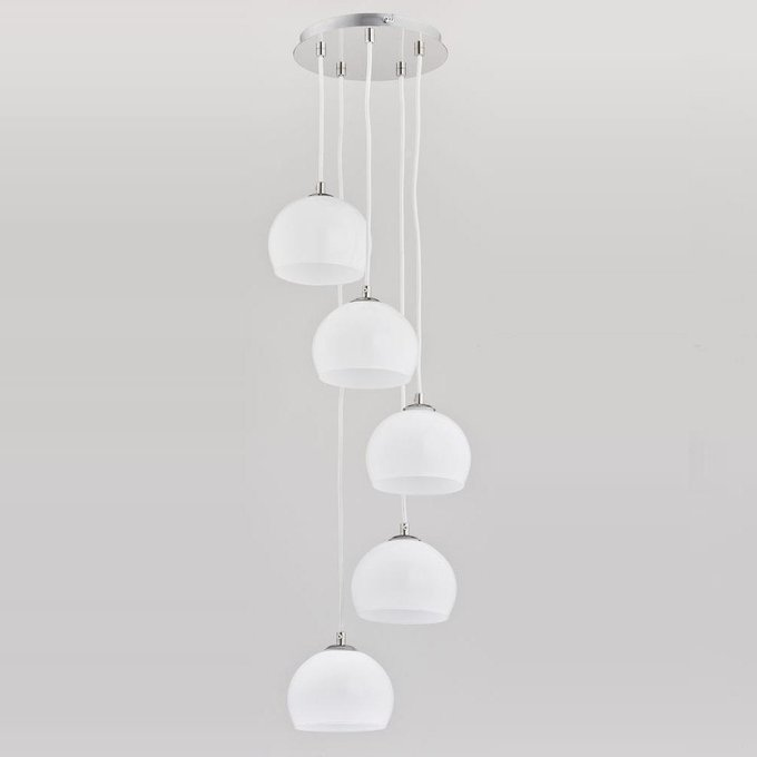 Подвесная люстра Waterfall White с белыми плафонами