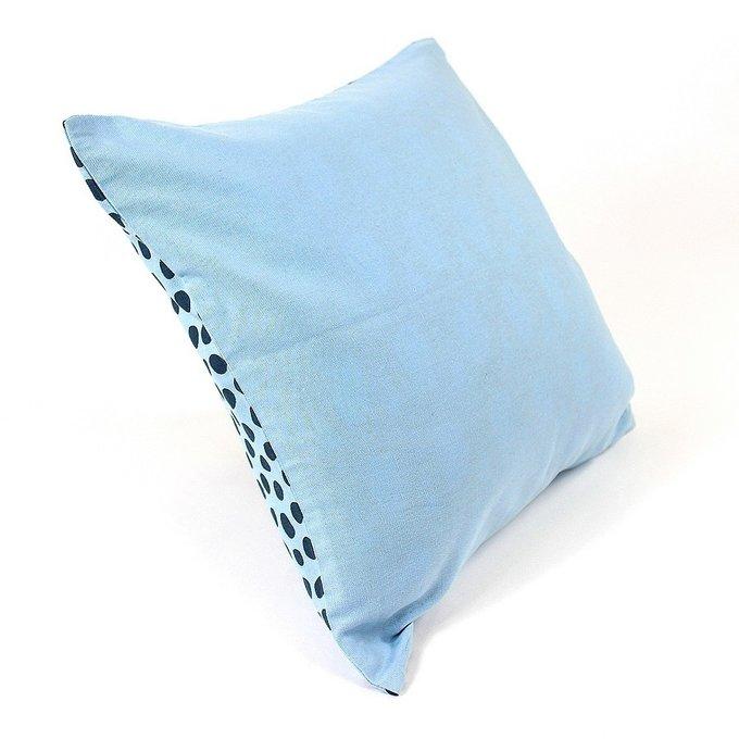 Чехол для подушки Funky dots серо-голубого цвета из хлопка