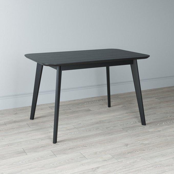 Стол обеденный Elia с подстольем из массива черного цвета 120х75