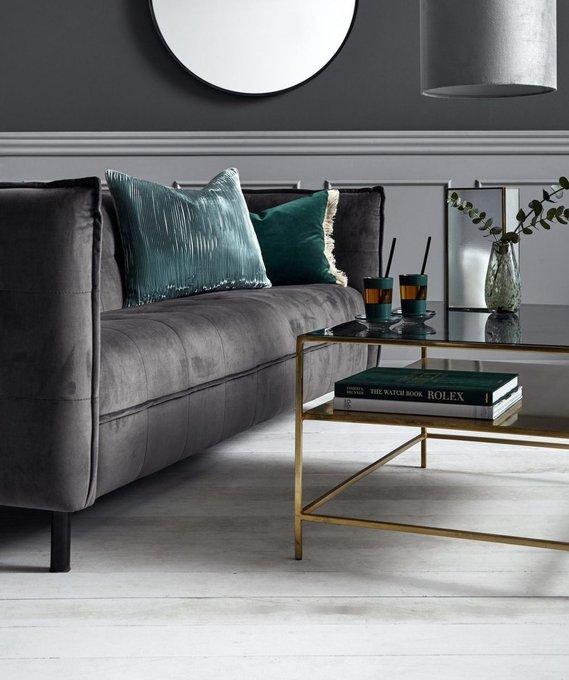 Стильный диван  серого цвета