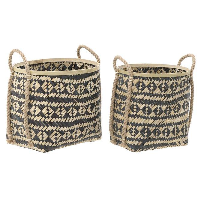 Набор из двух корзин из бамбука