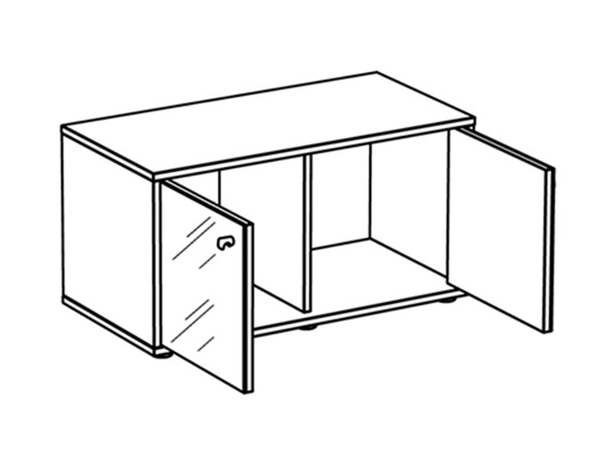 Тумба Latte с двумя распашными дверцами