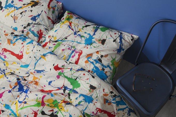 Комплект постельного белья Брызги белый 200х220